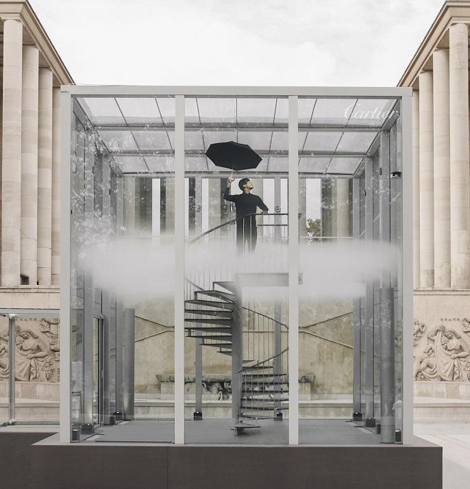 Bulle - Cartier - OSNI - Nuage Parfumé - Palais de Tokyo - Escalier - Homme