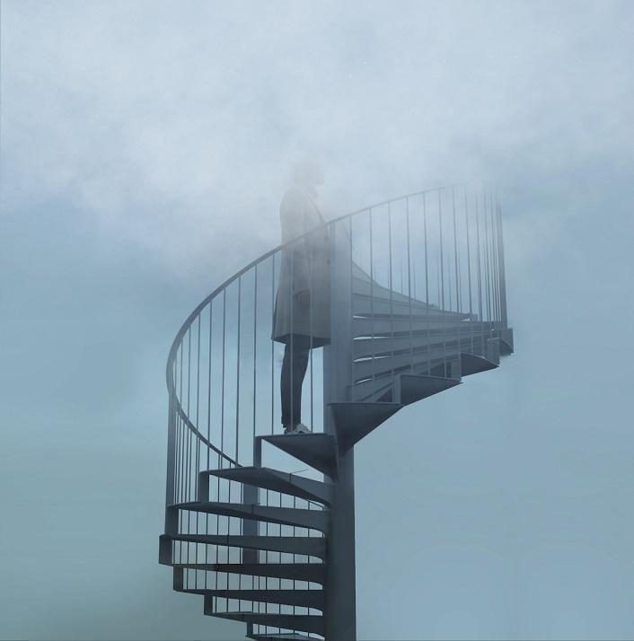 Bulle - Cartier - OSNI - Nuage Parfumé - Palais de Tokyo - Escalier - Femme