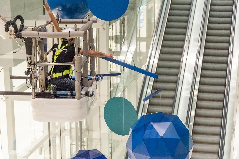 Enzyme - Grand Mobile - Métal - Xavier Veilhan - Installation - Aéroport Corée du Sud
