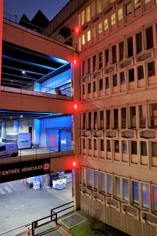 Mozinor - Montreuil - cité industrielle - éclairage du bâtiment